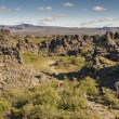 Rocks formation in  Dimmuborgir area - Iceland. — Foto de Stock