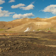 Geothermal landscape in Myvatn area - Iceland. — Stock Photo