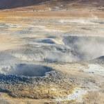 Namafjall hot springs - Myvatn area, Iceland. — Stock Photo