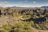 Rocks formation in Dimmuborgir area - Iceland. — Stock fotografie