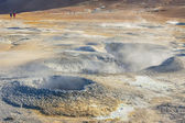Namafjall hot springs - Myvatn area, Iceland. — Foto Stock