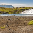 Small cascade and river on route F88 to Askja - Iceland — Stock Photo