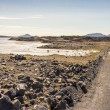 Gravel route f88 to Askja - Iceland. — Stock Photo