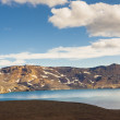 Big blue Oskjuvatn lake in interior of Iceland. — 图库照片