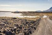 Gravel route f88 to Askja - Iceland. — Stock Photo