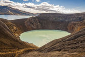 Big beauty Vitio lake with hot water - Iceland — Stock Photo