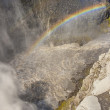 Rainbow over the Dettifos waterfall - Iceland. — Stock Photo