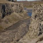 River Jokulsa a Fjollum canyon - Iceland. — Stock Photo