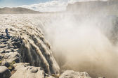 Dettifoss largest waterfall in Europe - Iceland. — Stock Photo