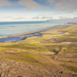Aerial view on Heradssandur coast - Iceland. — Stock Photo