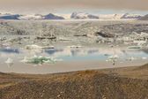 Vatnajokull glacier and Jokulsarlon lagoon - Iceland. — Stock Photo