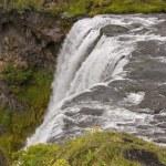 Top of Skogafoss waterfall - Iceland. — Stock Photo