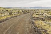 Gravel route to Landmannalaugar - Iceland. — Stock Photo