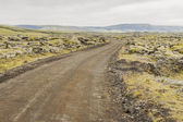 Gravel route to Landmannalaugar - Iceland. — Stock Photo