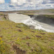 Hvita river and Gullfoss waterfall - Iceland. — Stock Photo