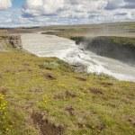 Hvita river and Gullfoss waterfall - Iceland. — Stock Photo