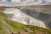 Aerial view on Gullfoss waterfall - Iceland. — Stock Photo