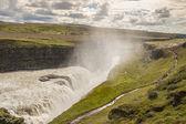 Big Gullfoss waterfall - Iceland. — Stock Photo