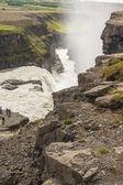 Aerial view on Gullfoss waterfall - Iceland. — Stock Photo