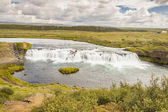 Rapid river and small cascade - Iceland. — Stock Photo
