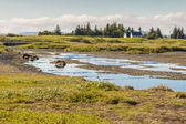 Pingvellir valley - Iceland. — Stock Photo