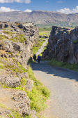 Thingvellir valley - Iceland. — Stock fotografie
