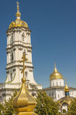 Bell tower of Pochaiv Monastery - Ukraine. — Stock Photo