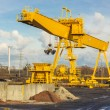 Yellow gantry crane. — Stock Photo