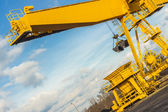 Yellow gantry crane - Poland. — Stock Photo