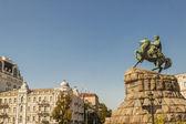 Historic monument of famous Ukrainian Hetman Bogdan Khmelnitsky — Stock Photo
