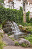 Small waterfall in Alexandria park - Bila Tsherkva, Ukraine, Eur — Stock Photo