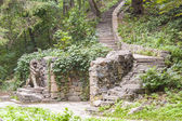 Stairs in Alexandria park - Bila Tsherkva, Ukraine. — Stock Photo