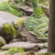 Stairs and big stone in Sofiyivsky park - Uman, Ukraine. — Stock Photo #22005121