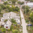 Aerial view on old part of Kamianets Podilskyi - Ukraine, Europe — Stock Photo #22256945