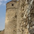 Tower and wall of castle in Kamianets Podilskyi, Ukraine, Europ — Stock Photo