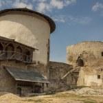 věž a stěna zámku v kamianets podilskyi, Ukrajina, europ — Stock fotografie