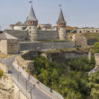 Stock Photo: Panoramof old castle in Kamianets Podilskyi, Ukraine, Europe.