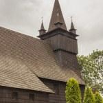 Exterior of St John the Baptist church - Orawka, Poland. — Stock Photo