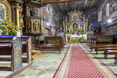 Interior of St John the Baptist church - Orawka, Poland. — Stock Photo