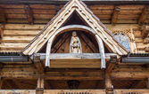 Wooden figure of Jesus Christ - Jaszczurowka Chapel, Zakopane, P — Stock Photo