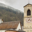Tower of church of St. John in Mustair, UNESCO World Cultural He — Stock Photo