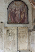 Wall of church of St. John in Mustair, UNESCO World Cultural Her — Stock Photo