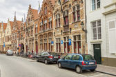 BRUGGE, BELGIUM - APRIL 22: walking on the old street in t — Stock Photo