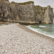Etretat, France Cote d'Albatre (Alabaster Coast) is part of the — Stock Photo #26834133