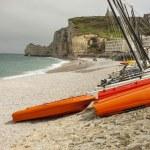Etretat, France Cote d'Albatre (Alabaster Coast) is part of the — Stock Photo