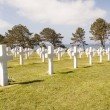 Military cemetery - Omaha Beach, Normandy France. — Stock Photo