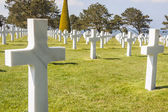 Military cemetery - Omaha Beach, Normandy France. — Foto Stock