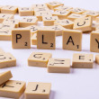 Play word and letters on white background. — Stock Photo #28419741