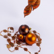 Christmas glass ball on white background. — Stock Photo