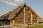 Cottage in Biskupin archaeological museum - Poland. — Stock Photo